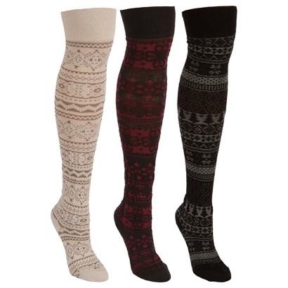 MUK LUKS® Women's 3pk Microfiber Sock - Classic