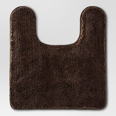 Threshold™ Lid Cover Bath Rug - Dark Brown