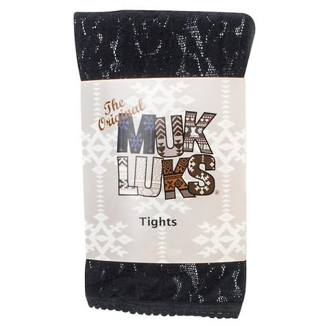 MUK LUKS® Women's Lace Footless Tights - Black