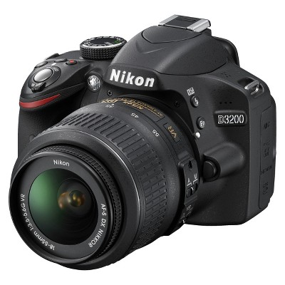 Nikon D3200 24.2MP Digital SLR Camera with 18-55mm Lens - Black
