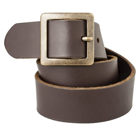 Women's Genuine Leather Pilgrim Belt - Brown - Mossimo Supply Co.™
