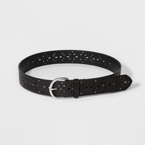 Women's Laser Perforated Stud Belt - Black - Mossimo Supply Co.™