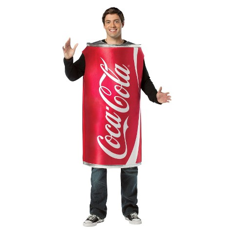 Adult Coca-Cola Can Costume - One Size Fits Most