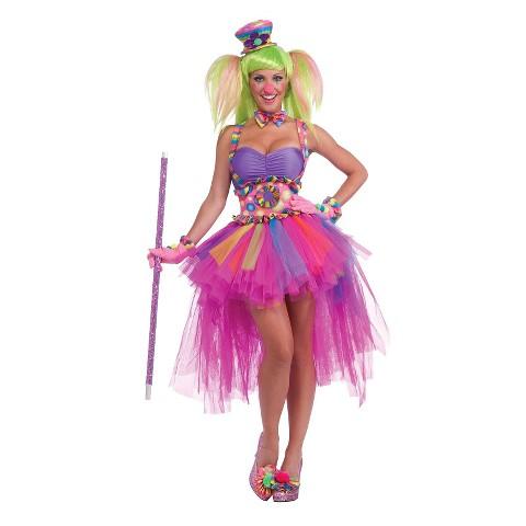 Women's Tutu Lulu The Clown Costume - One Size Fits Most