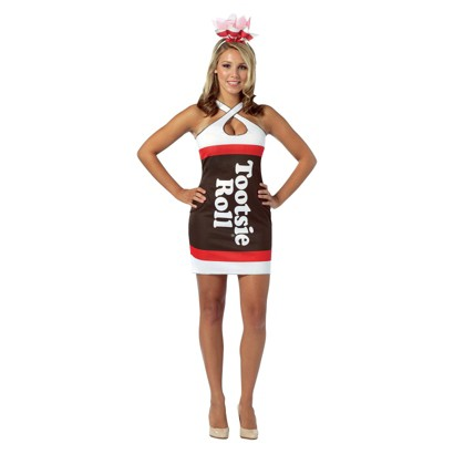 Women's Tootsie Roll Teardrop Dress Costume - One Size Fits Most
