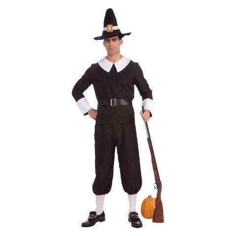 Men's Pilgrim Man Costume - One Size Fits Most