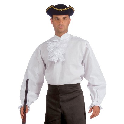 Men's Colonial Shirt Costume - One Size Fits Most