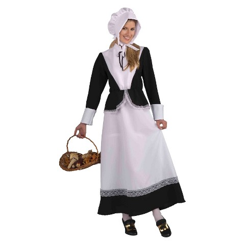 Women's Pilgrim Lady Costume - One Size Fits Most
