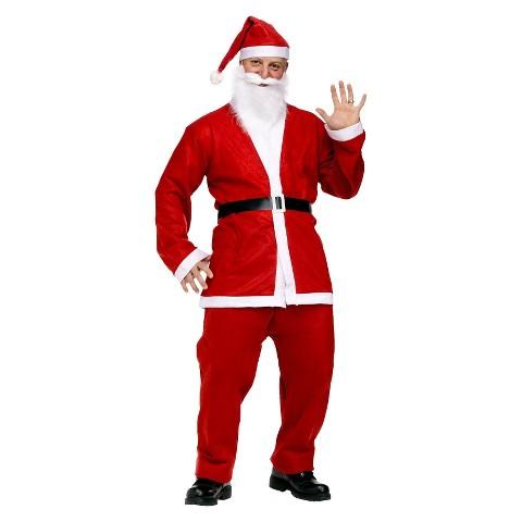 Adult Pub Crawl Santa Suit Costume - One Size Fits Most