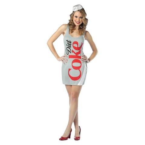 Women's Coca-Cola Diet Coke Dress Costume - One Size Fits Most