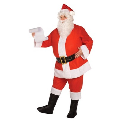 Image of Adult Budget Complete Santa Suit Costume - One Size Fits Most