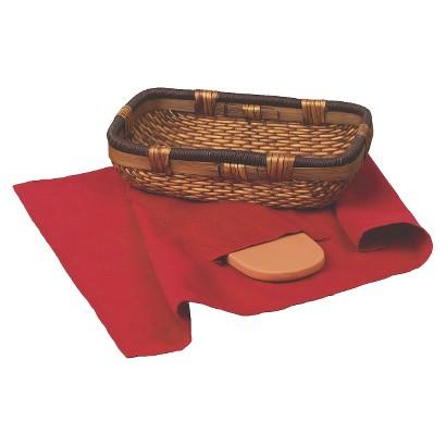 Keilen 3 Piece Bread Basket with Warming Stone