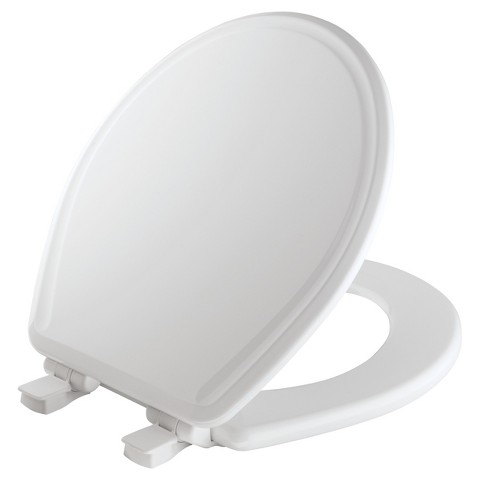 Round Molded Wood Toilet Seat with WhisperClose® with EasyClean & Change® Hinge and STA-TITE&#1