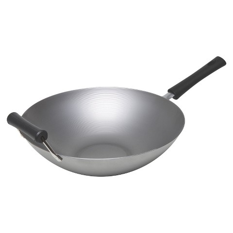 Keilen 14'' Carbon Steel Wok - Gray