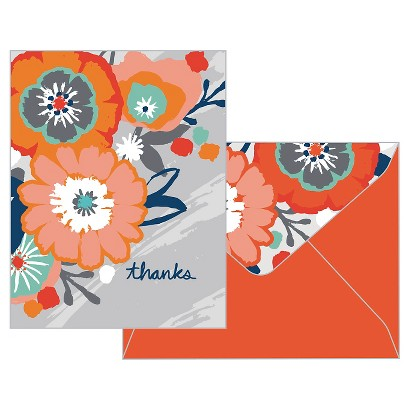 Thank You 10 Ct Bold Poppy Orange