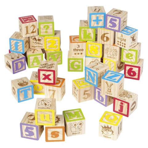 MAXIM 40 pc ABC Blocks with Bag