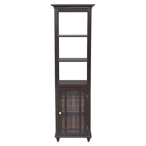 Elegant Home Fashions Neal Linen Cabinet - Dark Espresso