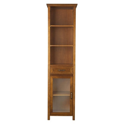 Elegant Home Fashions Avery Linen Cabinet - Oil Oak