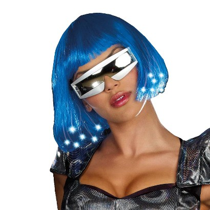 Adult Intergalactic Light Up Wig - One Size Fits Most