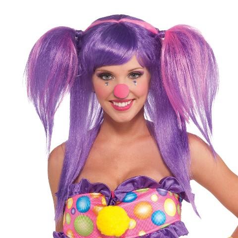 Women's Circus Sweetie Berry Bubbles Wig Purple