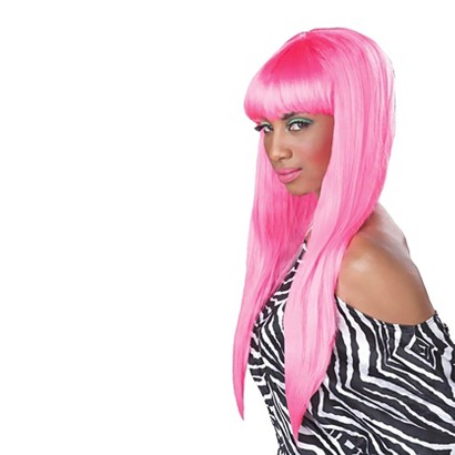 Adult Bubble Gum Wig - One Size Fits Most