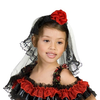 Adult Rose Spanish Dancer Headpiece - One Size Fits Most