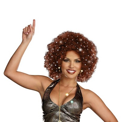 Adult Disco Dollie Light Up Mini Afro - One Size Fits Most
