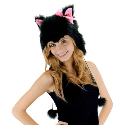 Adult Kitty Hoodie Hat - One Size Fits Most