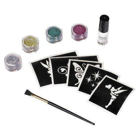 Child Disney Fairies Tinkerbell Glitter Tattoo Kit - One Size Fits Most