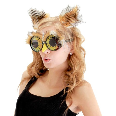 Adult Owl Ears and Glasses Accessory Kit - One Size Fits Most