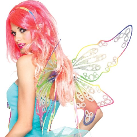 Adult Fantasy Rainbow Fairy Wings - One Size Fits Most