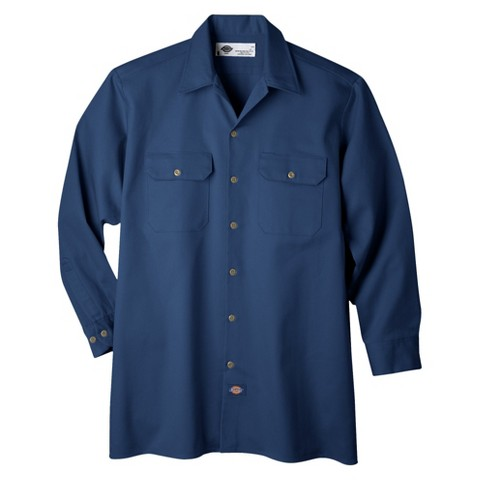 Dickies® Men's Relaxed Fit Heavy Weight Cotton Work Shirt