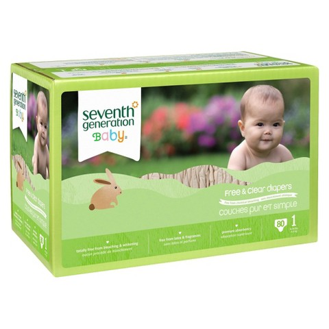 Seventh Generation Free & Clear Baby Diapers (Select Size)