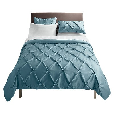 Pinched Pleat Comforter Set (Full/Queen) Blue 3pc - Threshold™