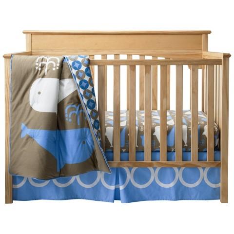Whales 3pc Crib Bedding Set