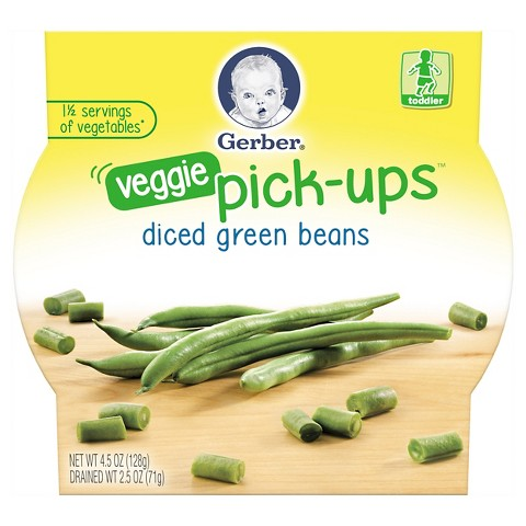 Gerber Graduates Veggie Pick-Ups Diced Green Beans - 4.5 oz.