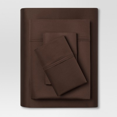 Performance 400 Thread Count Sheet Set Brown - (Full) - Threshold™