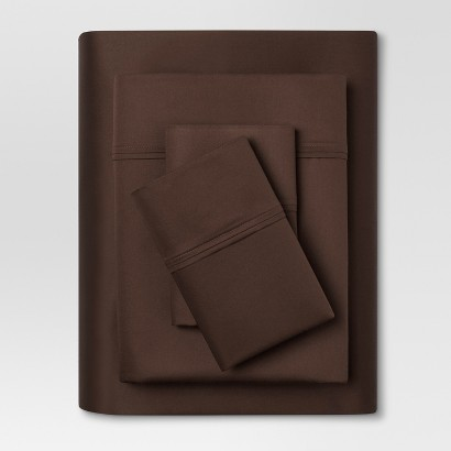 THRESHOLD™ PERFORMANCE 400 THREAD COUNT SHEET SET BROWN - (QUEEN)