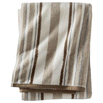 THRESHOLD™ STRIPE BATH TOWEL - LIGHT BROWN
