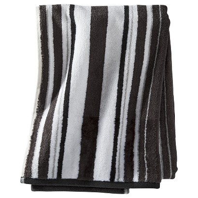 THRESHOLD™ STRIPE BATH TOWEL - WHITE
