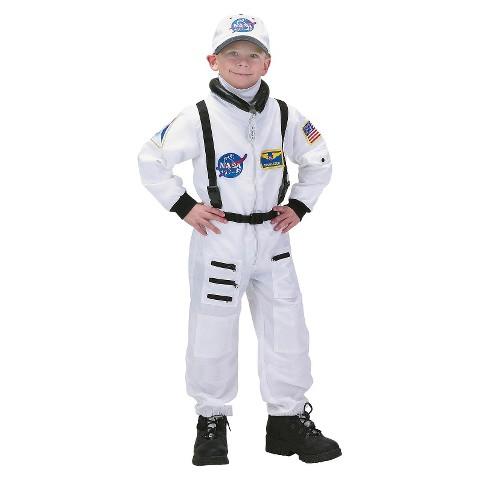 Toddler/Kid's NASA Jr. Astronaut Suit White Costume