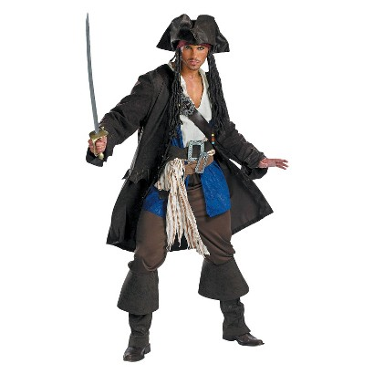 Teen Boy's Captain Jack Sparrow Prestige Costume - Size 38-40