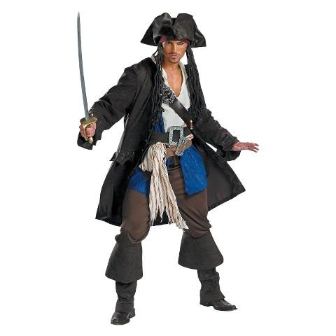 Teen Boy's Captain Jack Sparrow Prestige Costume - Size 38-40