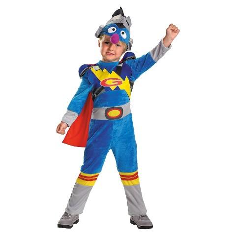 Boy's Sesame Street Super Grover 2.0 Costume - Small(4-6)