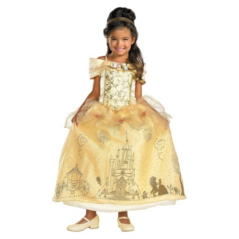 Toddler/Girl's Disney Storybook Belle Prestige Costume
