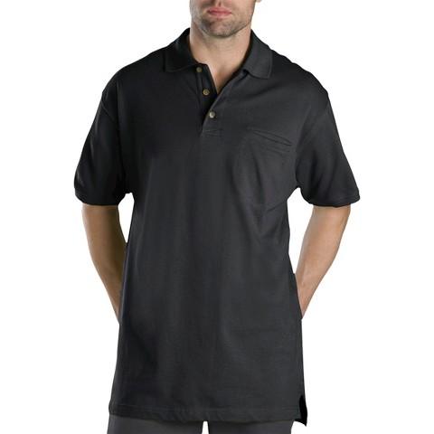 Dickies® Men's Big & Tall Cotton Short Sleeve Mini Piqué Polo