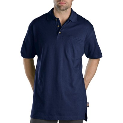 Dickies® Men's Relaxed Fit Mini Pique Polo