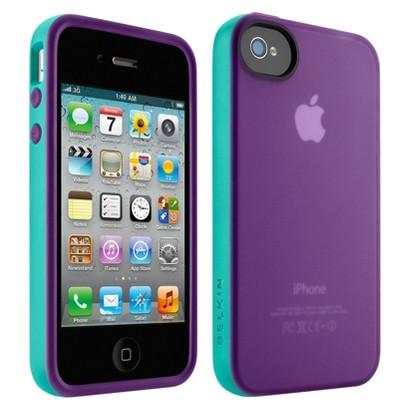 Belkin Grip Candy Case for iPhone4 - Purple/Blue (F8Z813ebC02)
