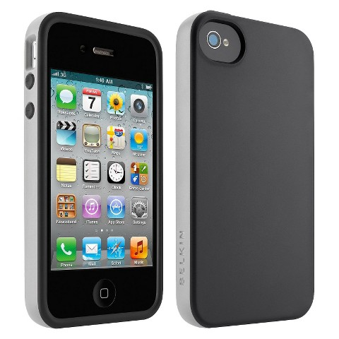 Belkin Grip Candy Case for iPhone4 - Black (F8W084ebC01)