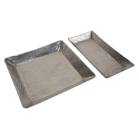 Threshold™ Hammered Tray Set of 2